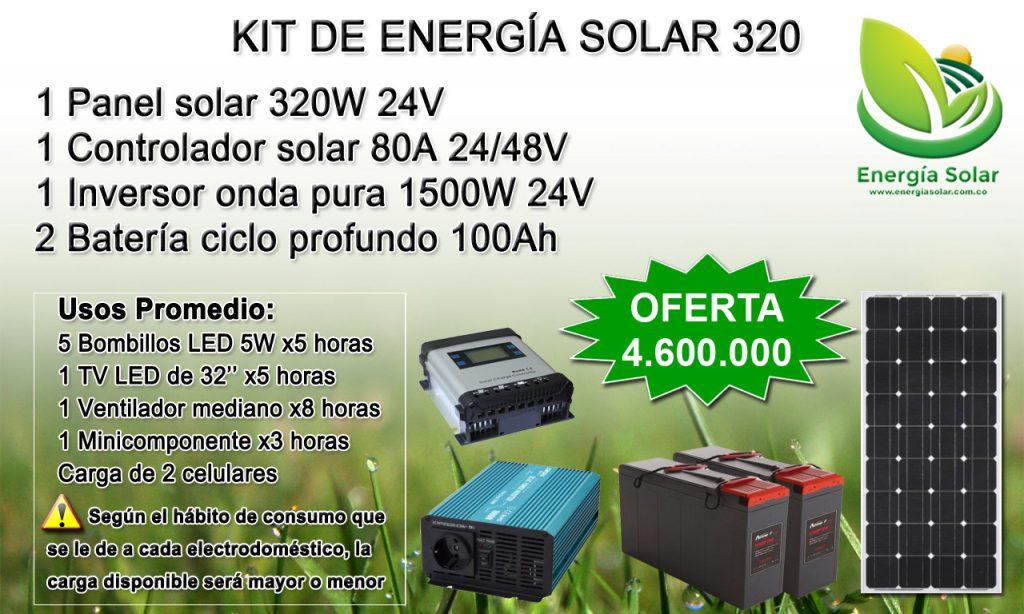 panel solar - Batería ciclo profundo - controlador solar - inversor onda pura - Medellin Colombia