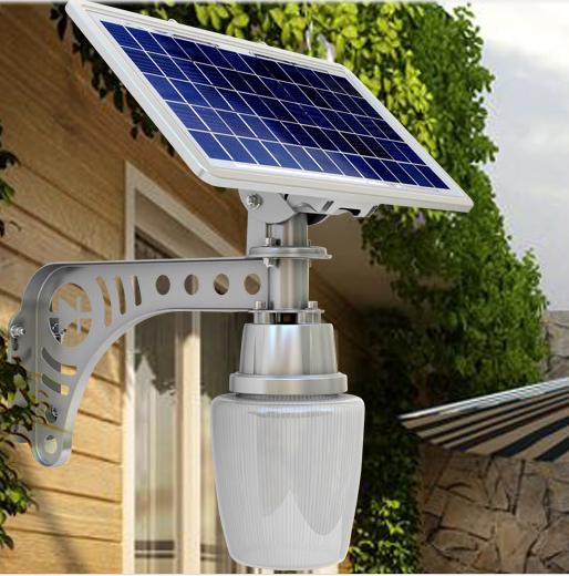 lampara led 5w con panel solar exteriores energia solar