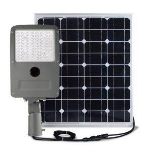 lamparas LED con panel solar para iluminacion y alumbrado publico